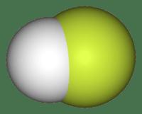 молекула фтористо-водородной кислоты